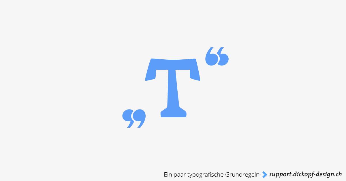 Ein paar typografische Grundregeln // support.dickopf-design.ch