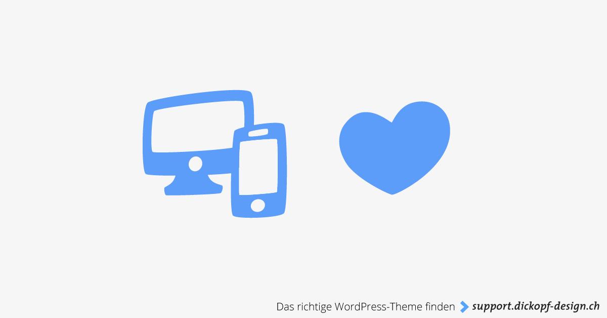 Das richtige WordPress-Theme finden // support.dickopf-design.ch